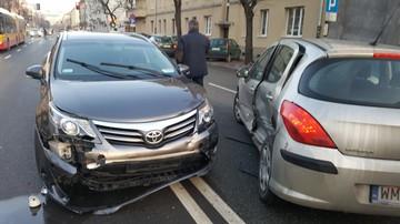 Kolizja z udziałem samochodu Kancelarii Sejmu