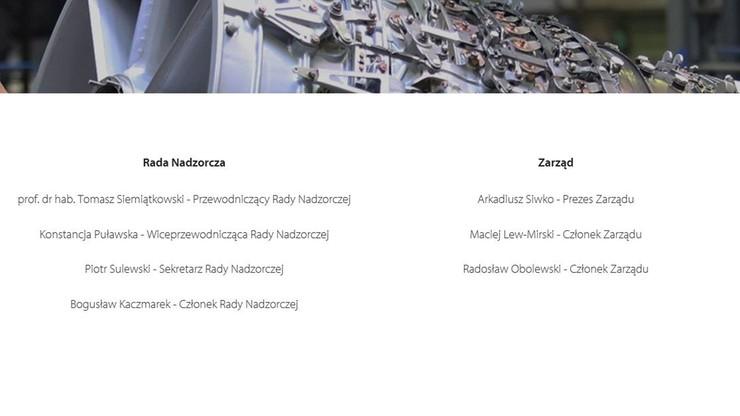 Nazwiska Misiewicza nie ma już w składzie rady nadzorczej na stronie PGZ