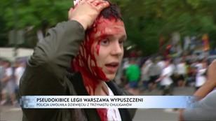 Pseudokibice Legii Warszawa wypuszczeni - policja uwolniła 9 z 13 chuliganów
