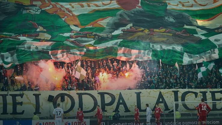 Policja chce zamknąć stadion Lechii.To kara za odpalenie rac