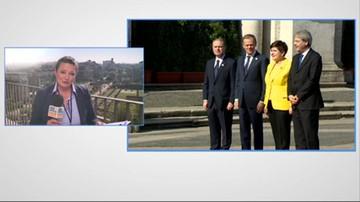 2017-03-25 Unijny szczyt w Rzymie. Przywódcy państw Unii Europejskiej na Kapitolu