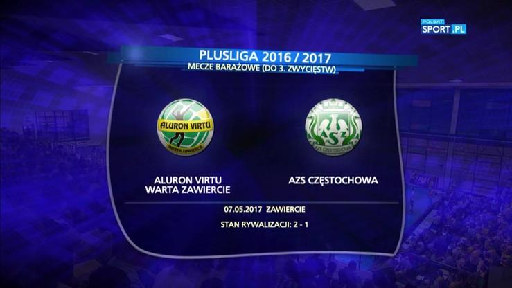 Aluron Virtu Warta Zawiercie – AZS Częstochowa 3:0. Skrót meczu