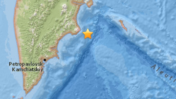 21-03-2016 05:08 Silne trzęsienie ziemi na Kamczatce