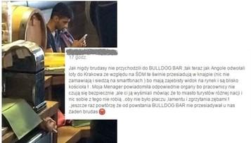 """20-07-2016 14:05 Właściciel krakowskiego baru nazwał gości """"brudasami"""". Klienci są oburzeni"""