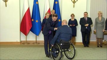 Paraolimpijczycy w Pałacu Prezydenckim. Zostali odznaczeni przez prezydenta Dudę