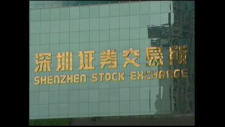 Ostre nurkowanie chińskich indeksów. Żeby zahamować spadki wstrzymano notowania