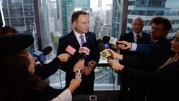 19-09-2016 21:08 Prezydent Duda: Polska popiera negocjacje z USA w sprawie TTIP