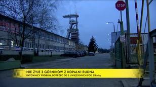 Nie żyje 4 górników z kopalni Rudna - ratownicy próbują dotrzeć do uwięzionych pod ziemią