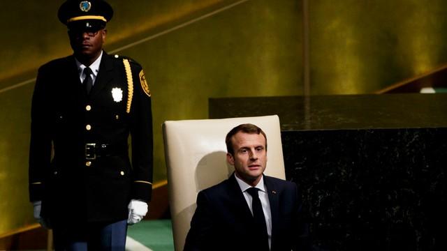 Macron w ONZ jako anty-Trump