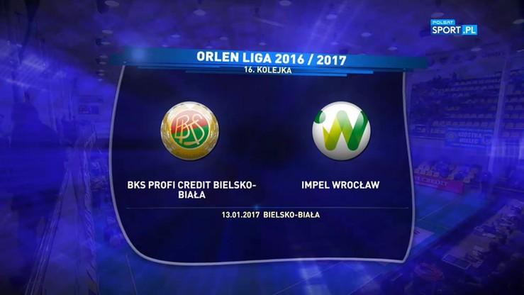 BKS Profi Credit Bielsko-Biała - Impel Wrocław 1:3. Skrót meczu