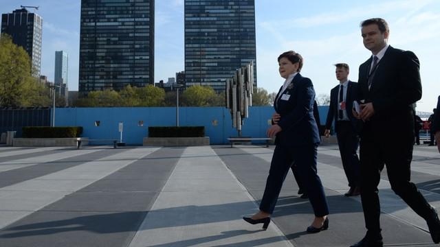 Premier Beata Szydło podpisała porozumienie klimatyczne