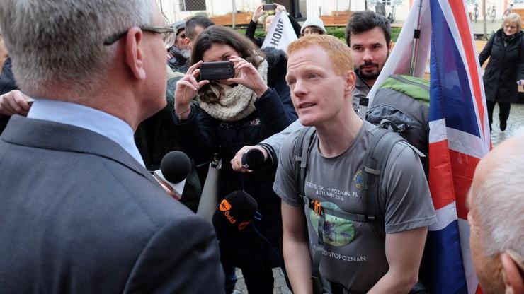 """Przeszedł 1,5 tys. km, by zamieszkać w Poznaniu. """"Dla pokoju i ludzkości"""""""