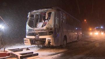 28-11-2016 05:05 11 osób rannych w wypadku autobusu na Żywiecczyźnie