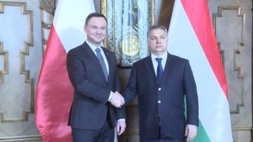"""19-03-2016 11:58 Polski prezydent spotkał się z węgierskim premierem. """"Dziś Europa stoi przed wieloma prawdziwymi wyzwaniami"""""""