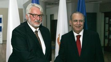 04-11-2016 15:54 Waszczykowski: wspieramy proces zjednoczenia Cypru