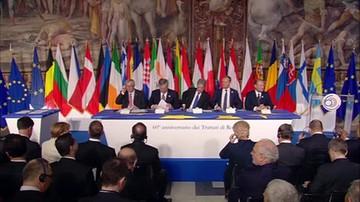 2017-03-25 Ceremonia podpisania Deklaracji Rzymskiej przez przywódców 27 państw Unii Europejskiej
