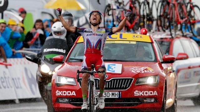 Tour de France: Rodriguez wygrał etap. Kwiatkowskiego osłabł na podjeździe do mety
