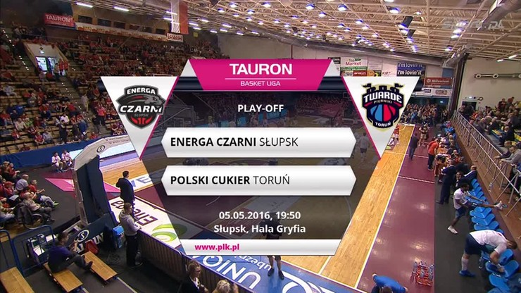 TBL: Energa Czarni Słupski - Polski Cukier Toruń 94:83. Skrót meczu