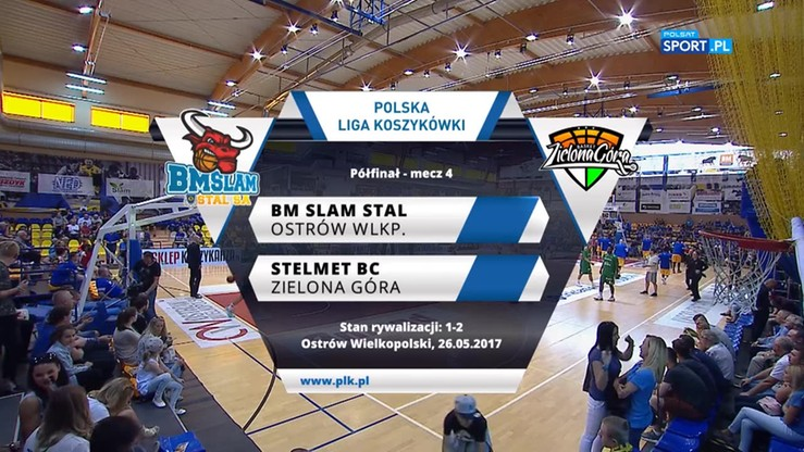 BM Slam Stal Ostrów Wlkp. - Stelmet BC Zielona Góra 58:57. Skrót meczu
