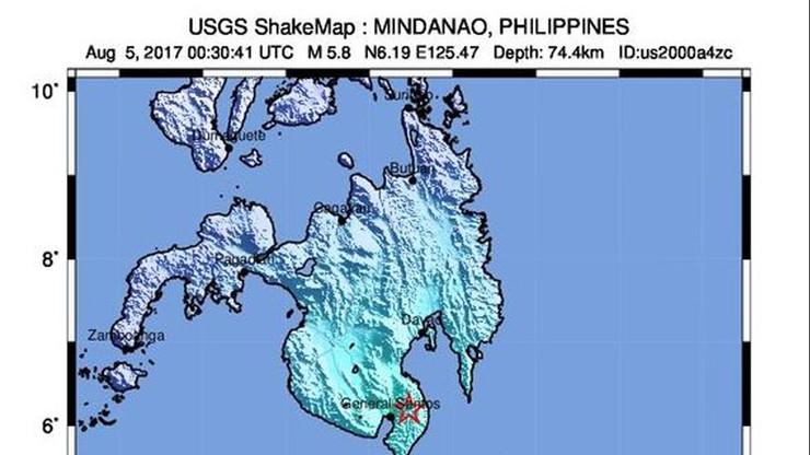 Trzęsienie ziemi o magnitudzie 6 st. na Filipinach