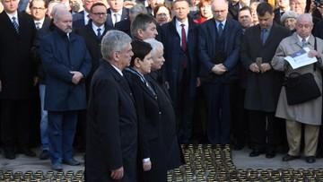 Państwowe obchody siódmej rocznicy katastrofy smoleńskiej. Apel Pamięci przed Pałacem Prezydenckim