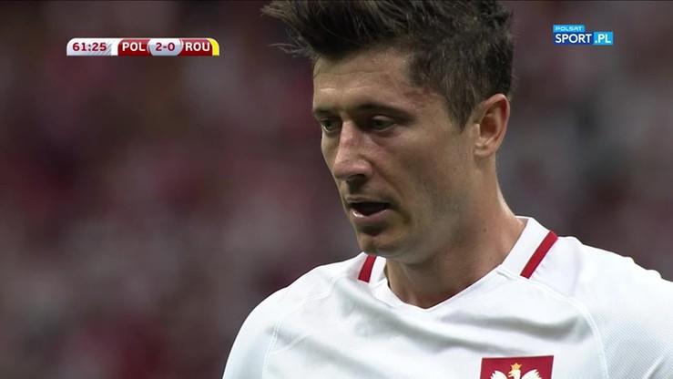 2017-06-10 Polska - Rumunia 3:0. Gol Lewandowskiego