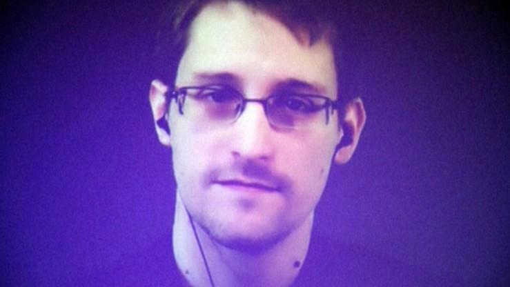 Snowden na targach komputerowych w Niemczech. Wypowiadał się podczas transmisji online