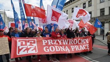 """01-05-2017 12:23 Święto Pracy w Warszawie pod hasłem """"Przywróćmy godną pracę"""""""