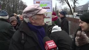 Warszawa: Nie chcą tramwaju. Protest mieszkańców Saskiej Kępy