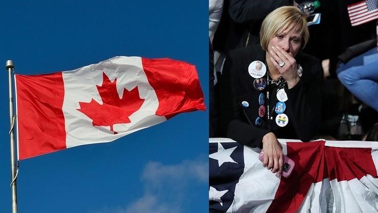 Panika przeciwników Trumpa. Chcą uciekać do Kanady