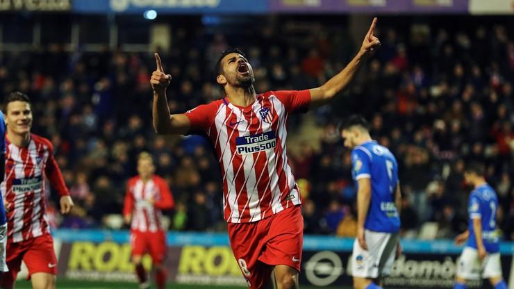 Puchar Hiszpanii: Atletico bliżej ćwierćfinału, powrót Diego Costy