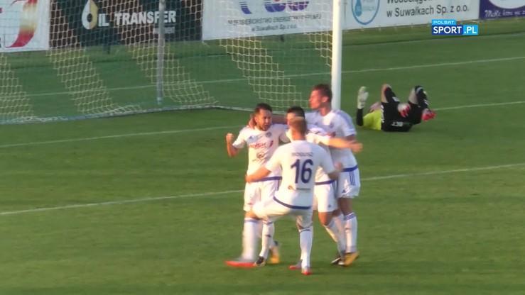 Wigry Suwałki - GKS Tychy 1:2. Skrót meczu