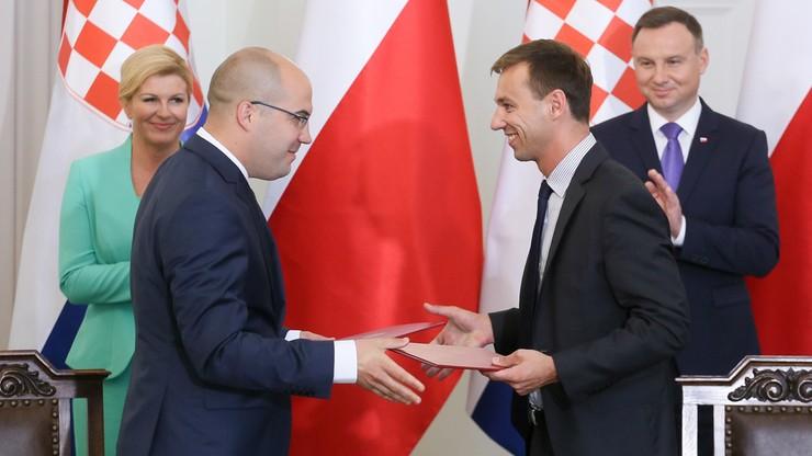 Polskie i chorwackie firmy podpisały pierwsze umowy realizujące koncepcję Trójmorza