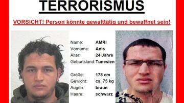 21-12-2016 21:21 Niemcy: poszukiwany Anis Amri miesiącami był obserwowany przez służby. Nagroda 100 tys. euro