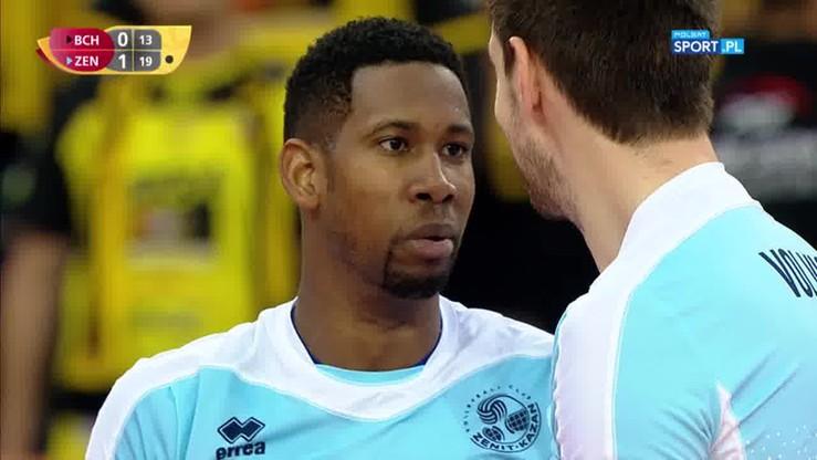 Spektakularna wymiana w meczu Skra - Zenit! Leon pokazał na co go stać