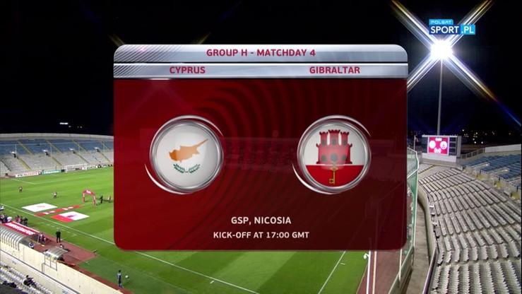 Cypr - Gibraltar 3:1. Skrót meczu