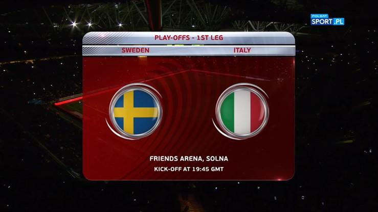 2017-11-10 Szwecja - Włochy 1:0. Skrót meczu