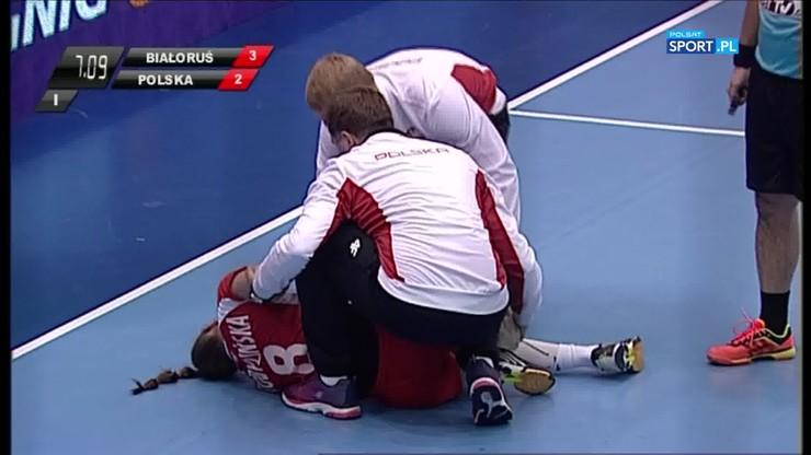 Poważna kontuzja Kobylińskiej w meczu z Białorusią