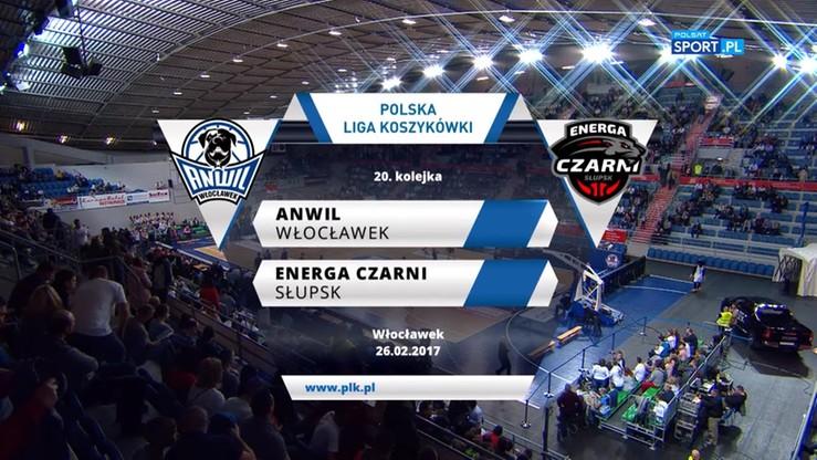 Anwil Włocławek - Energa Czarni Słupsk 69:63. Skrót meczu