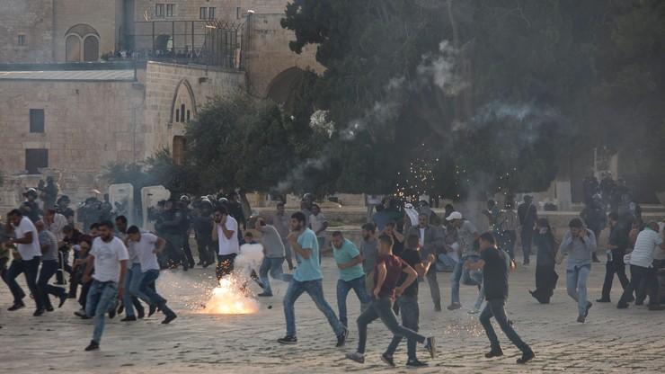 113 Palestyńczyków ucierpiało w przepychankach w Jerozolimie