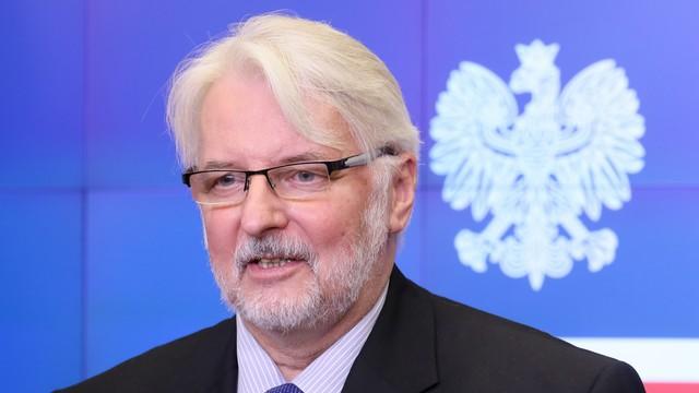 Waszczykowski: jesteśmy zszokowani językiem debaty o Polsce w PE