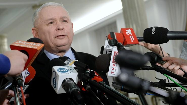 Kaczyński, Szydło, Kuchciński, Karczewski, Terlecki - konferencja liderów z PiS w polsatnews.pl