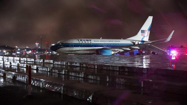 USA: Samolot z kandydatem na wiceprezydenta wypadł z pasa na lotnisku w Nowym Jorku