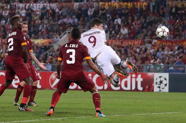 Bayern rozbił Romę. Grad bramek i gol Lewandowskiego
