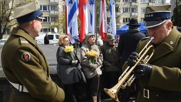19-04-2017 12:51 Obchody 74. rocznicy wybuchu powstania w warszawskim getcie