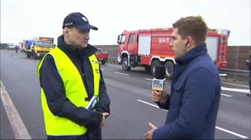 Ciężarówka przewróciła się na autostradzie A1. 5 osób nie żyje
