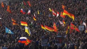 """06-02-2016 16:45 """"Merkel musi odejść"""". Wielka antyimigrancka manifestacja w Dreźnie"""