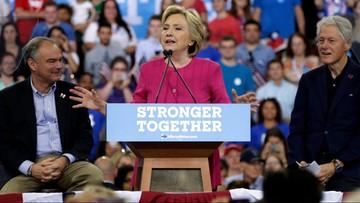 01-08-2016 15:37 USA: Hillary Clinton wygrywa w sondażach przedwyborczych