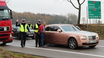 02-11-2016 11:46 Pościg za Rolls-Roycem z Dubaju. Uciekał przez trzy powiaty