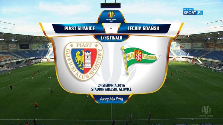 Piast Gliwice - Lechia Gdańsk 0:0 (3:5 po karnych). Skrót meczu